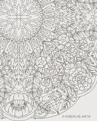 Large Format Complex Coloring Page By Cynthia Emerlye 24 Inches