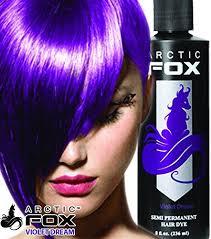 Arctic Fox Hair Dye Colour Chart Arctic Fox Semi Permanent Hair Color Violet Dream