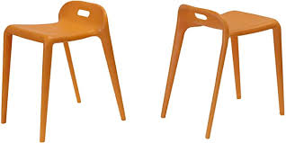 Mod Made E-Z Modern Stacking Stool Chair (2 Pack ... - Amazon.com