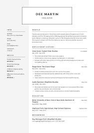 Resume Examples In English For Job Voice Actor Resume Templates 2019 Free Download Resume Io