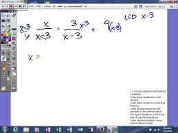 1 2 linear and rational equations solving rational equations with variables in the denominator