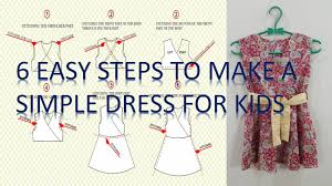 Simple Dress Pattern For Beginners Delectable How To Make A Simple Dress Pattern And To Sew It Step By Step For