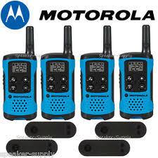 motorola walkie talkie blue. motorola talkabout t100 walkie talkie 4 pack set 16 mile two way radios blue new o
