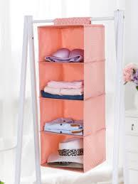 hanging closet organizer 4 shelf waterproof polka dot pattern hanging accessory shelves share