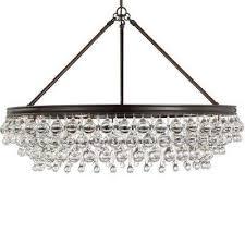 calypso 6 light crystal teardrop bronze chandelier