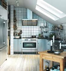 Rustic Small Kitchen Design White Cabinets With Simple Sloped Ceiling White Design  Ideas Also Rustic Wooden