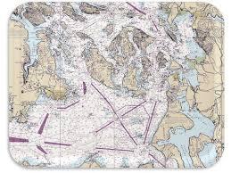 Trays4us San Juan Islands Nautical Chart Birch Wood