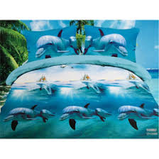 Dolphin Quilts Online | Dolphin Quilts for Sale & Vivid Dolphins Sanding Quilt Cover Bed Sheet Pillowcase 4pc Set, Summer  Bedding Set Home Textile Gift for 1.8m Bed Adamdwight.com