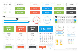 Free Flat Ui Kit Psd File For Free Download Now