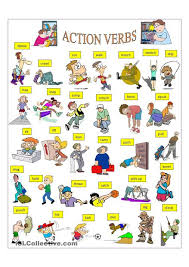 Verb Action Action Verbs Action Verbs English Language Learning