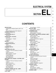 2000 nissan quest electrical system section el pdf manual 2000 nissan quest electrical system section el 312 pages
