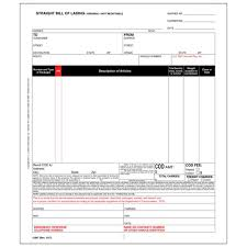 universal bill of lading straight bill of lading universal form