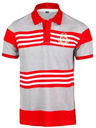 images gallery fashion short sleeve polo shirt grey with red and white stripes