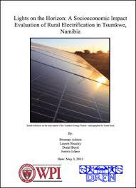 Project Reports – Tsumkwe Energy