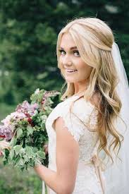 hairstyles down for wedding. 25 elegant half updo wedding hairstyles: #4. bridal hair\u2026 | bride hair hairstyles down for t