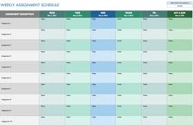 monthly weekly calendar free weekly schedule templates for excel smartsheet
