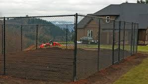 chain link fences are great for gardens