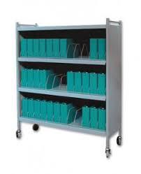 Rhino Tuff Mobile Chart Rack 36 Space Binder Storage Cart