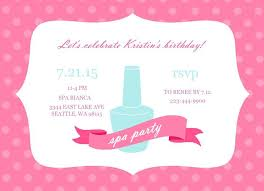 Birthday Party Invitation Template Word Free Spa Birthday Party Invitation Template Free Templates Word 3