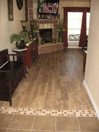 Kitchen With Tile Floor Transition With Wood Plank Tile Floors Pinterest Mosaics