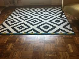 catchy ikea rug pillows with rugs at area black white and designs s plush for living room dining