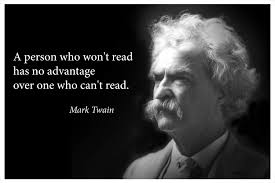 Amazoncom Mark Twain Portrait Poster With Famous Quote A Person