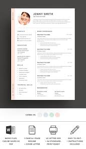Best Modern Clean Resume Design Resume Template Word Modern Clean Cv By Best Themes