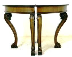 half circle table half round accent table amazing console circle tables small side in 7 wood