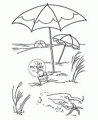 Download Coloring Pages: Beach Coloring Page Beach Umbrella ...