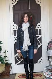 candace rose anderson cananderson blog new year s eve black leather moto jacket oversized free people scarf
