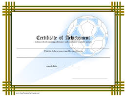 Free Soccer Certificate Templates 13 Free Sample Soccer Certificate Templates Printable Samples