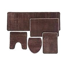 brown bath rugs bathroom rug mat set memory foam extra soft nonslip back chocolate sets and blue target