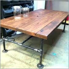 rustic industrial coffee table diy pipe how to make a with wheels