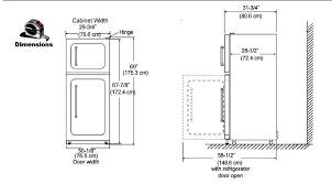 standard refrigerator height. Refrigerator Standard Height