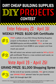 dcbs diy projects contest about dirt cheap building supplies dcbs diy projects contest