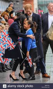 Prince Harry and Meghan Markle visit Birmingham to learn more about the  work of two projects which support young people from the local community  Featuring: Meghan Markle, Prince Harry, Sophia Richards Where: