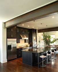 Walnut Kitchen Floor Dark Walnut Floors Kitchen Modern With Cooktop Fluorescent