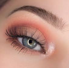 neutral peach eye makeup pink eyeshadow peachy makeup look soft eye makeup