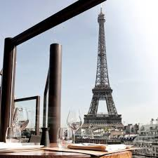 eiffel tower dining paris france. paris museum restaurant with view of eiffel tower dining france