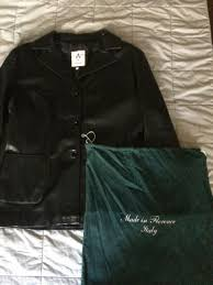 women s genuine black italian leather jacket xl made and purchased in italy