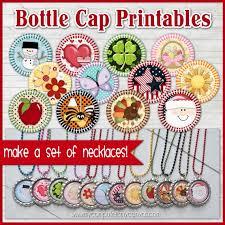 diy bottle cap necklace kit give away