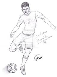 Christiano Ronaldo Christiano Ronaldo Coloring Pages Soccer