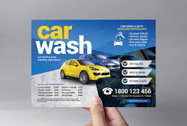 Free Car Wash Flyers Designs Car Wash Flyer Template V2 Psd Ai Vector Brandpacks