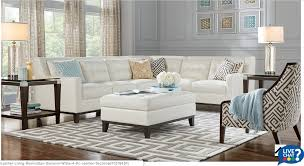 White Leather Living Room Design Rooms To Go San Giovanni White 4pc Leather Sectional