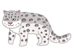 ユキヒョウ雪豹のイラスト かわいいフリー素材集 いらすとや
