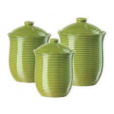 Green Kitchen Canister Set Designer Kitchen Canister Sets
