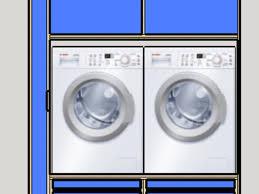 L'électroménager en bleu pastel contraste d'une façon romantique. Question Meuble Buanderie Pour Machine A Laver Par Joachim Delnest Sur L Air Du Bois