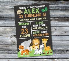 Safari Party Invitations Jungle Invitation Safari Birthday Invitation Jungle Birthday