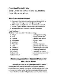 efl esl essay lesson about e waste by bourneefl tpt efl esl essay lesson about e waste