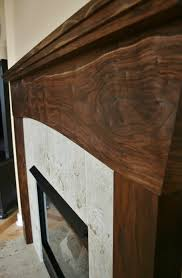 black walnut stained pine fireplace mantel google search